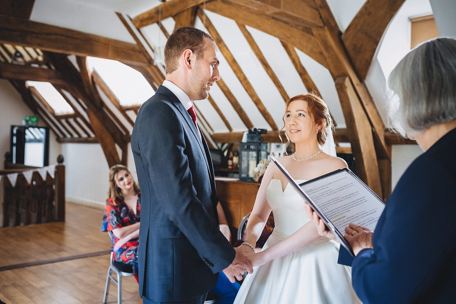 Micro wedding ceremony at the Hever Hotel In Kent