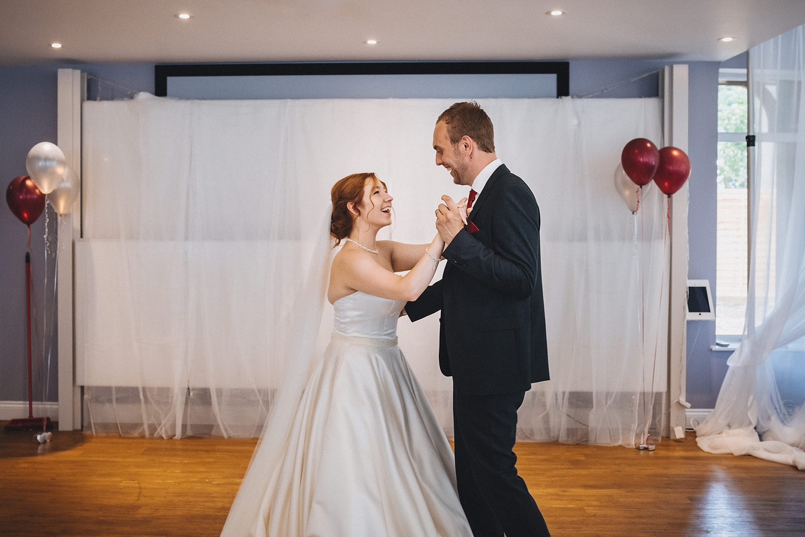 Bride and Groom dance their first dance at the Hever Hotel