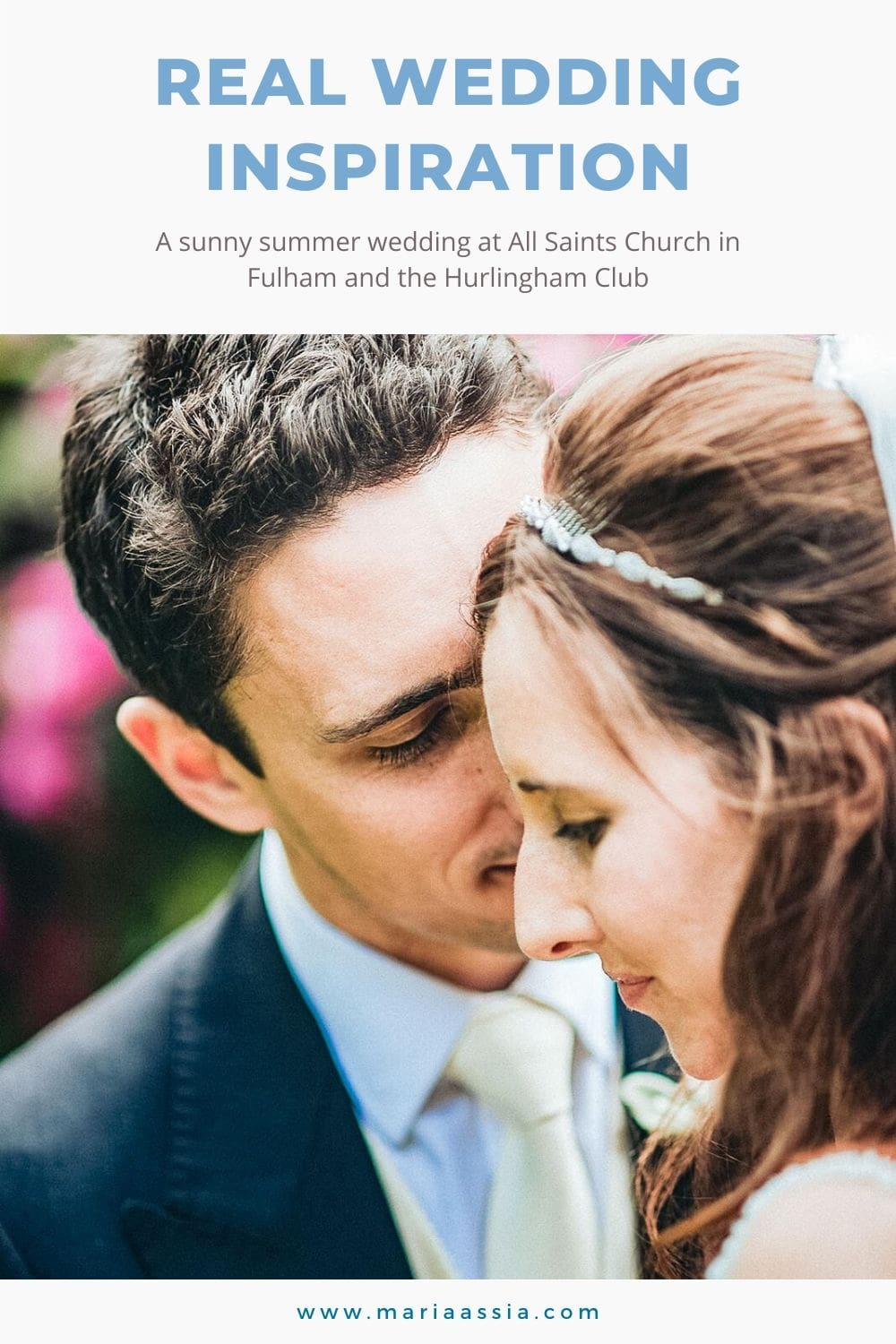 Real wedding inspiration for a colourful summer Hurlingham Club wedding