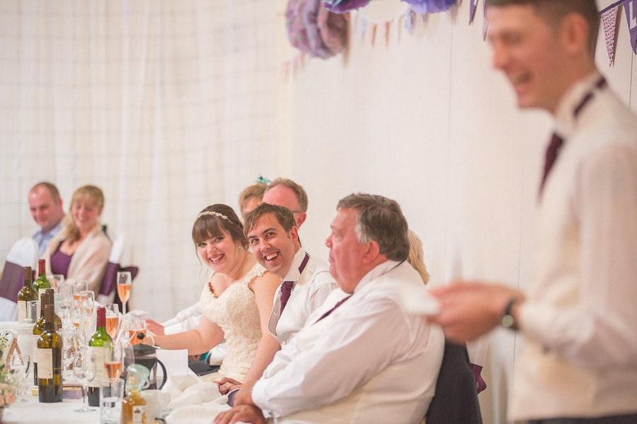Best man's speech at a summer rustic barn wedding