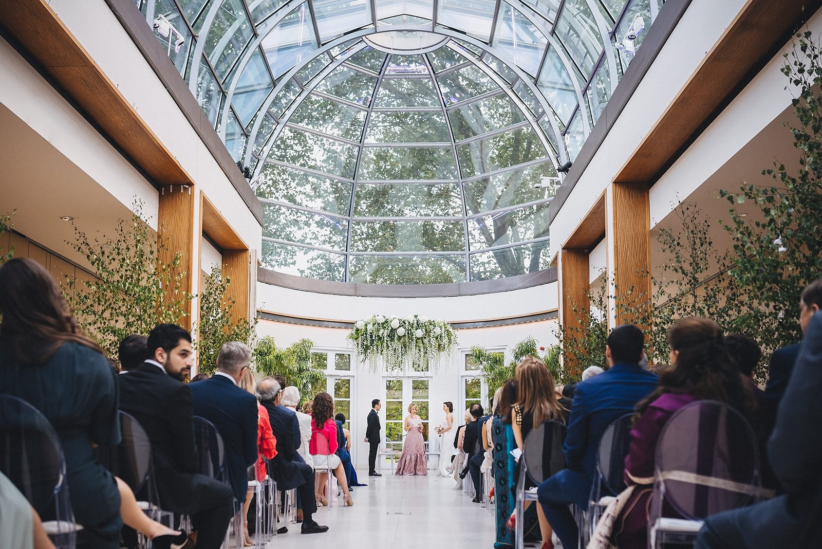 Wedding ceremony in the Orangery at the Hurlingham Club