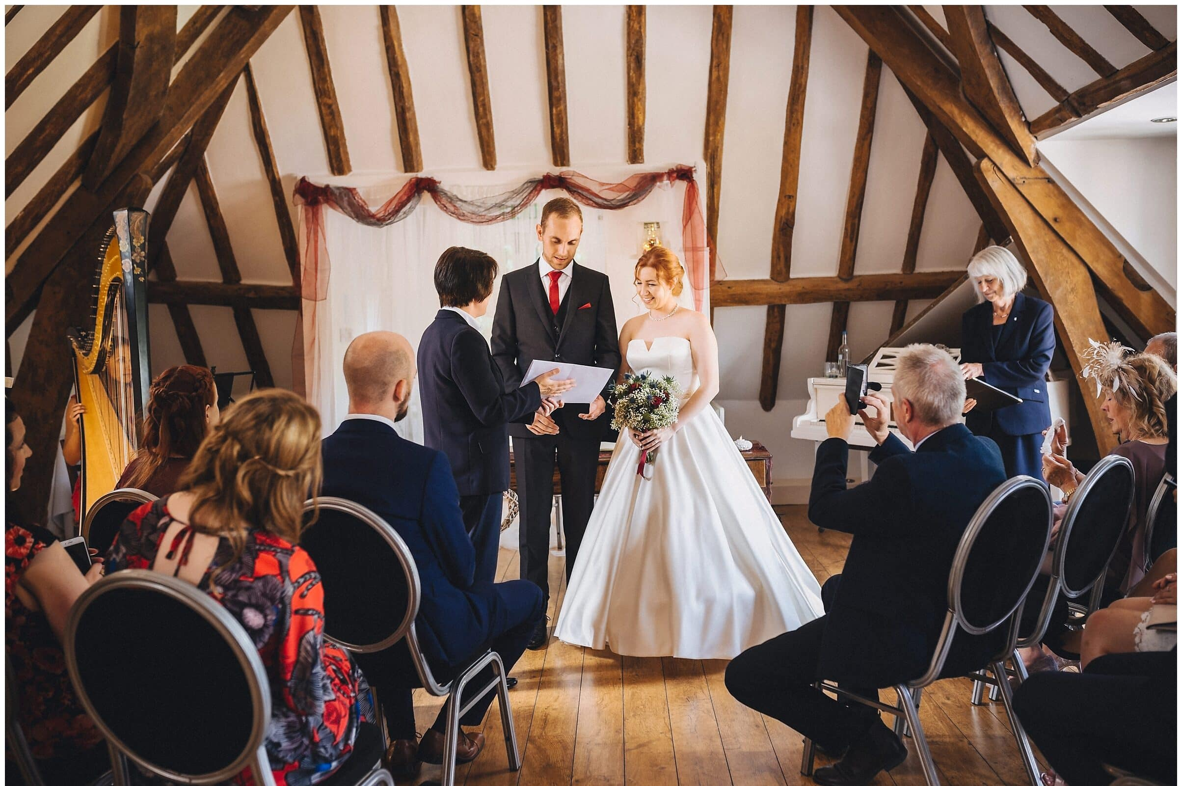 Intimate Hever Hotel Wedding Ceremony with just 8 wedding guests