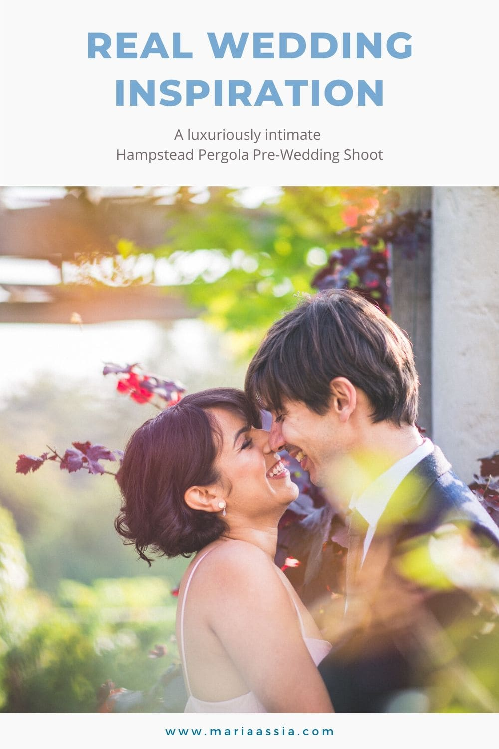 Real Wedding Inspiration for a luxuriously intimate Hampstead Pergola Pre-Wedding Shoot