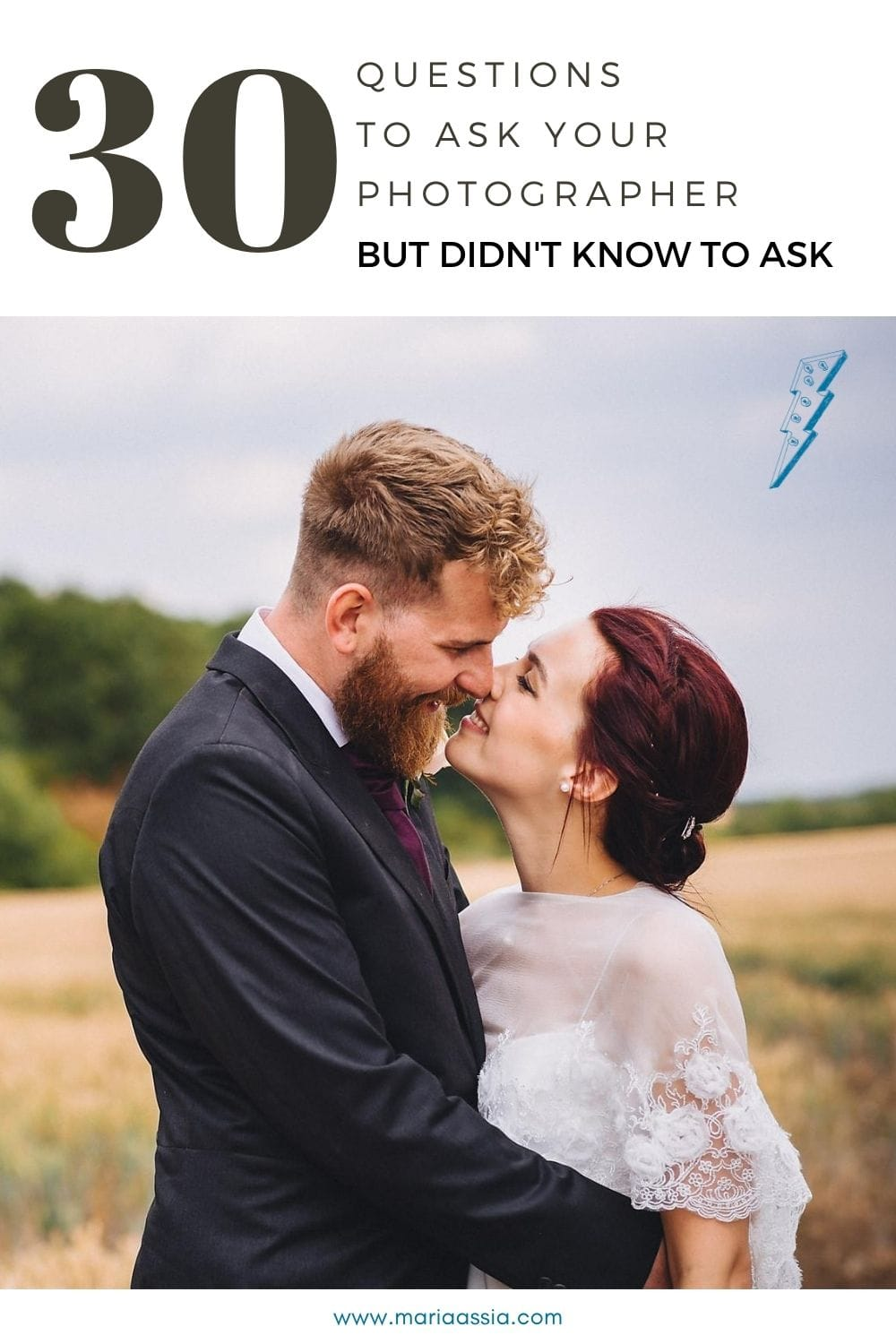 30 Questions to ask your wedding photographer