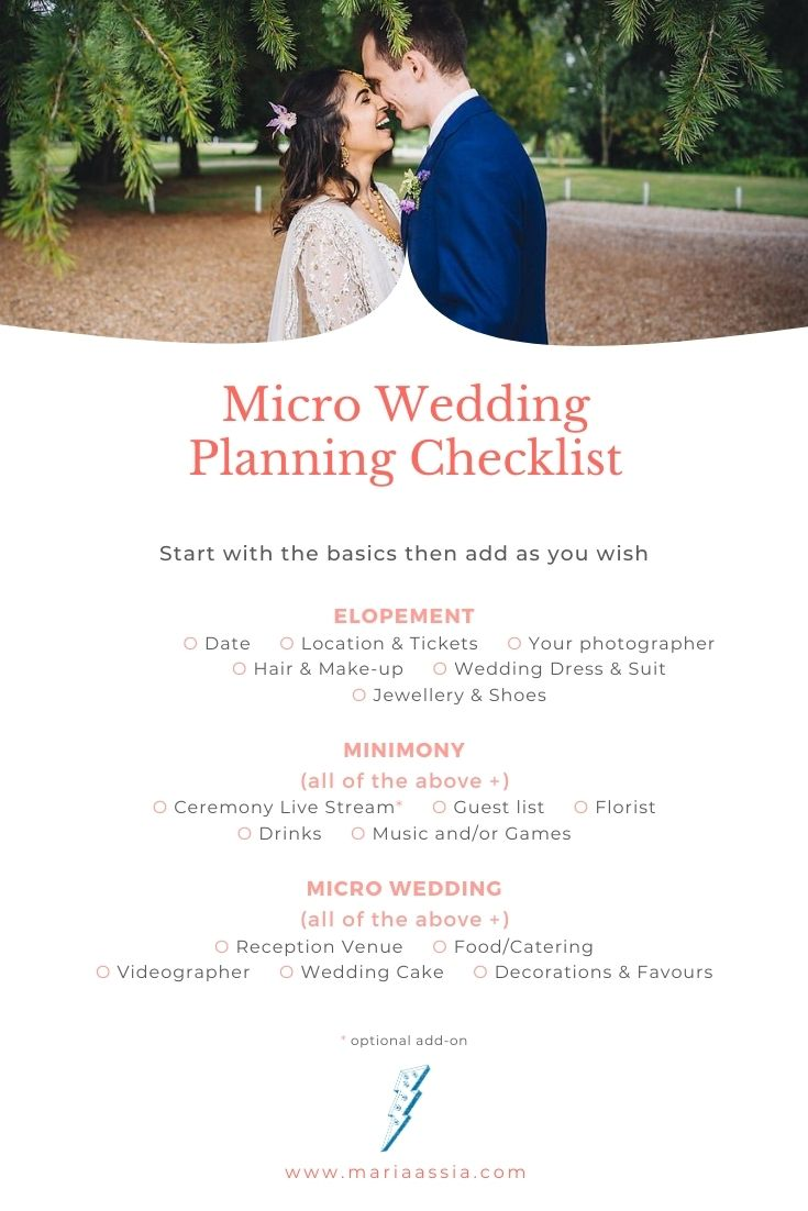 Wedding Planning Checklist for Elopements, Minimonies & Microweddings