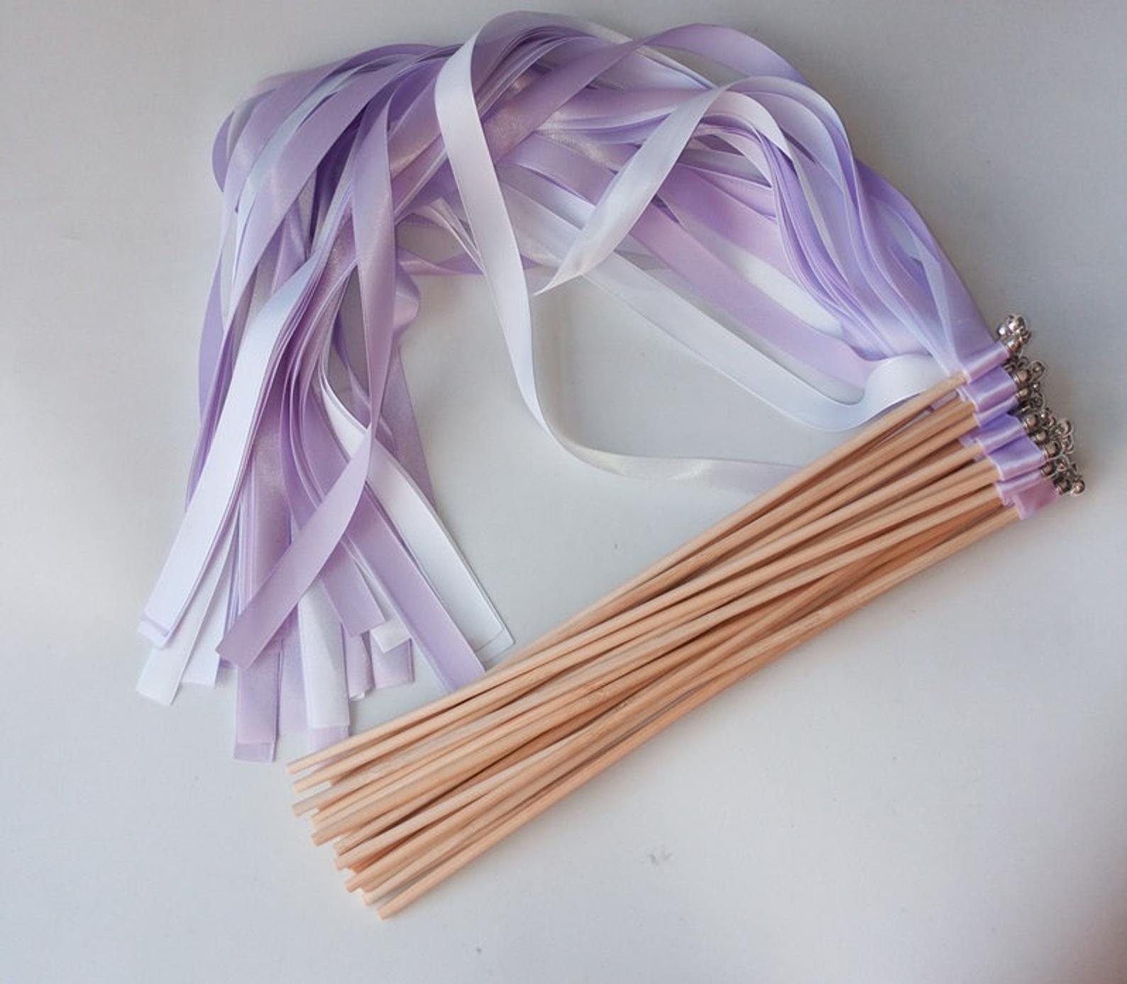 covid safe confetti alternative twirling ribbons and wedding wands