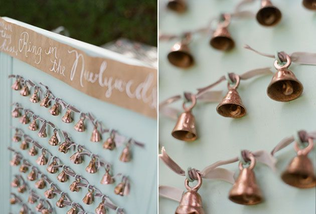 Wedding bells for ceremony guests as a Covid Safe confetti alternative | Maria Assia Photography