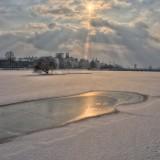 Copenhagen icy winter lakes, Denmark