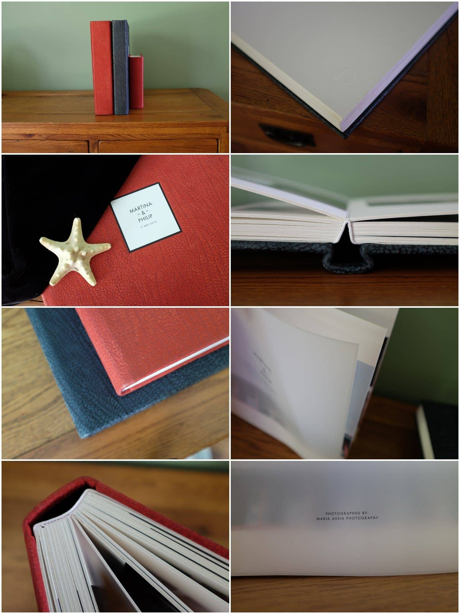 Maria Assia Photography traditional Queensberry matted Wedding Albums