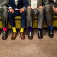 Colourful wedding socks