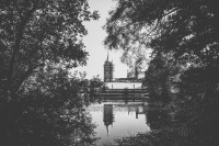 Horsley Towers quirky venue view from the lake