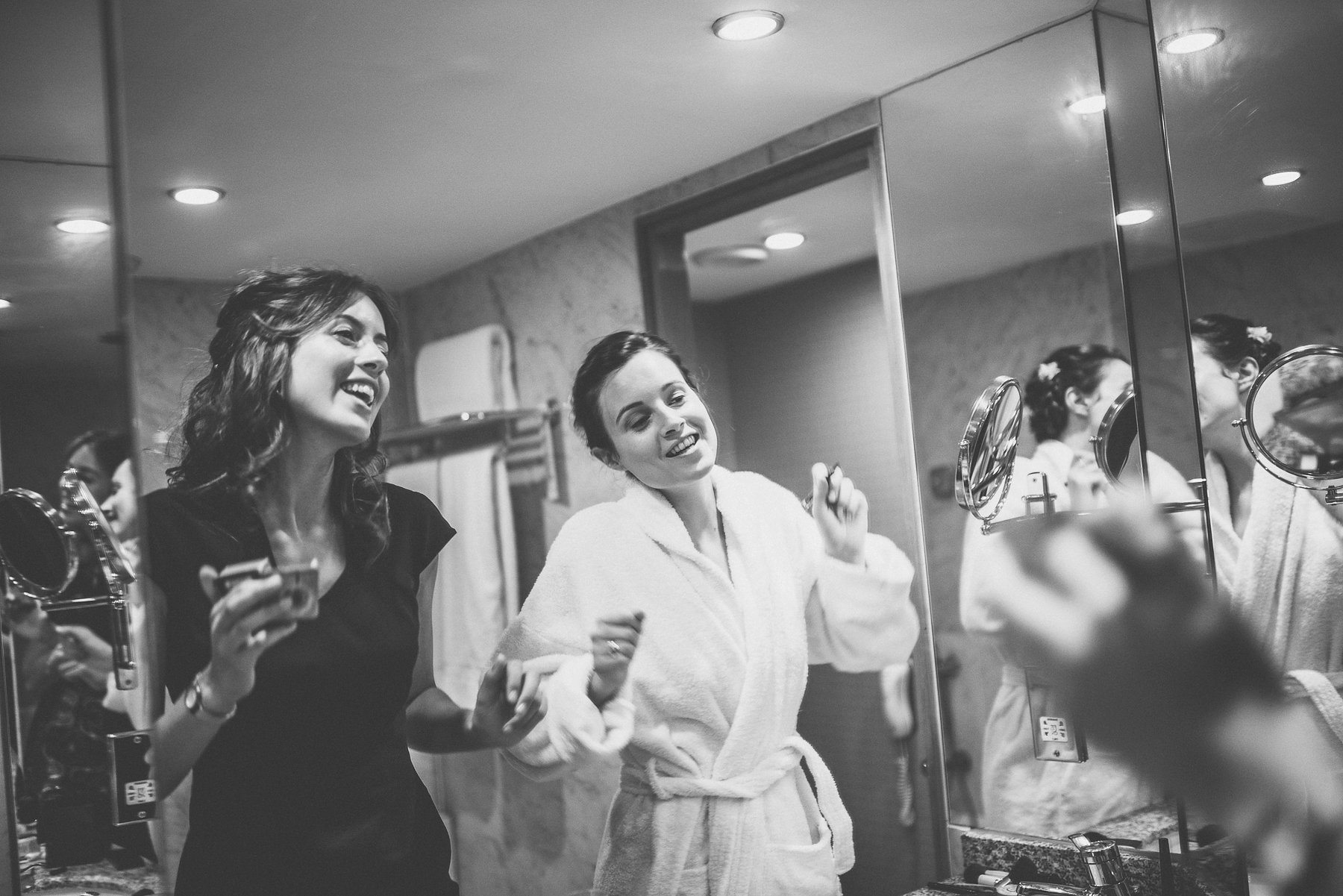 Top Tips to start Wedding Planning | Bride and bridesmaid singing as they prepare for her Hurlingham Club Glamorous Music Themed Chelsea Wedding
