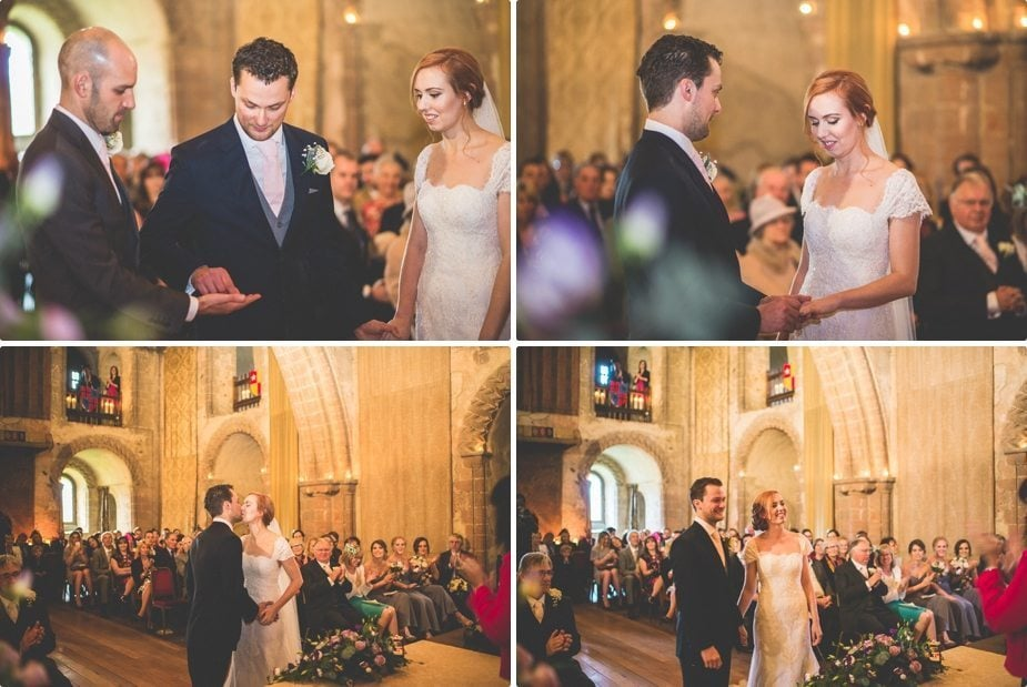 Hedingham Castle candle lit Wedding ceremony