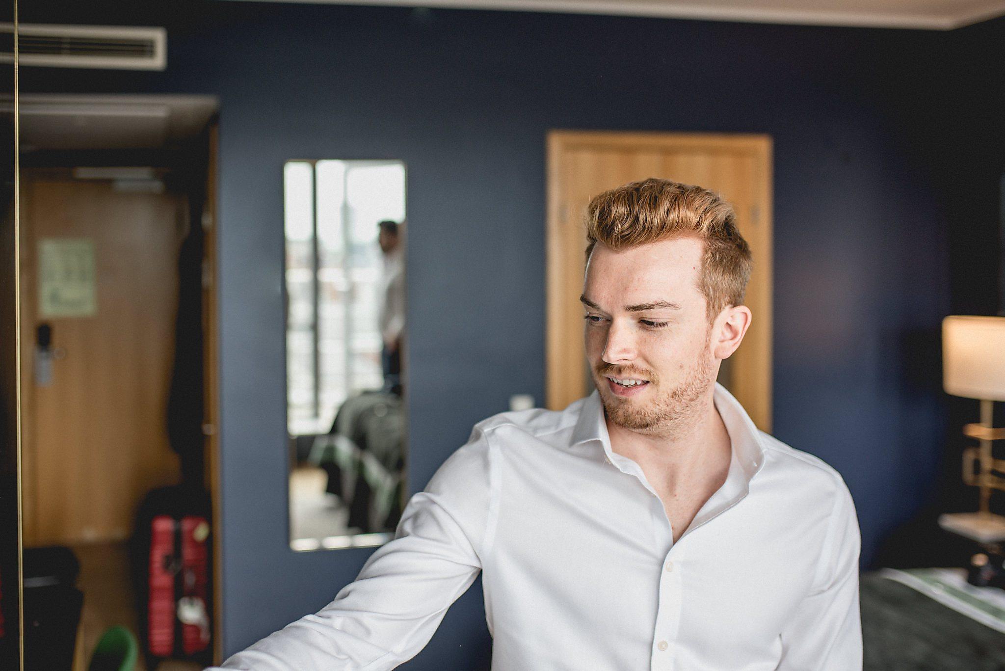 Drew gets ready for his stylish summer elopement in Copenhagen