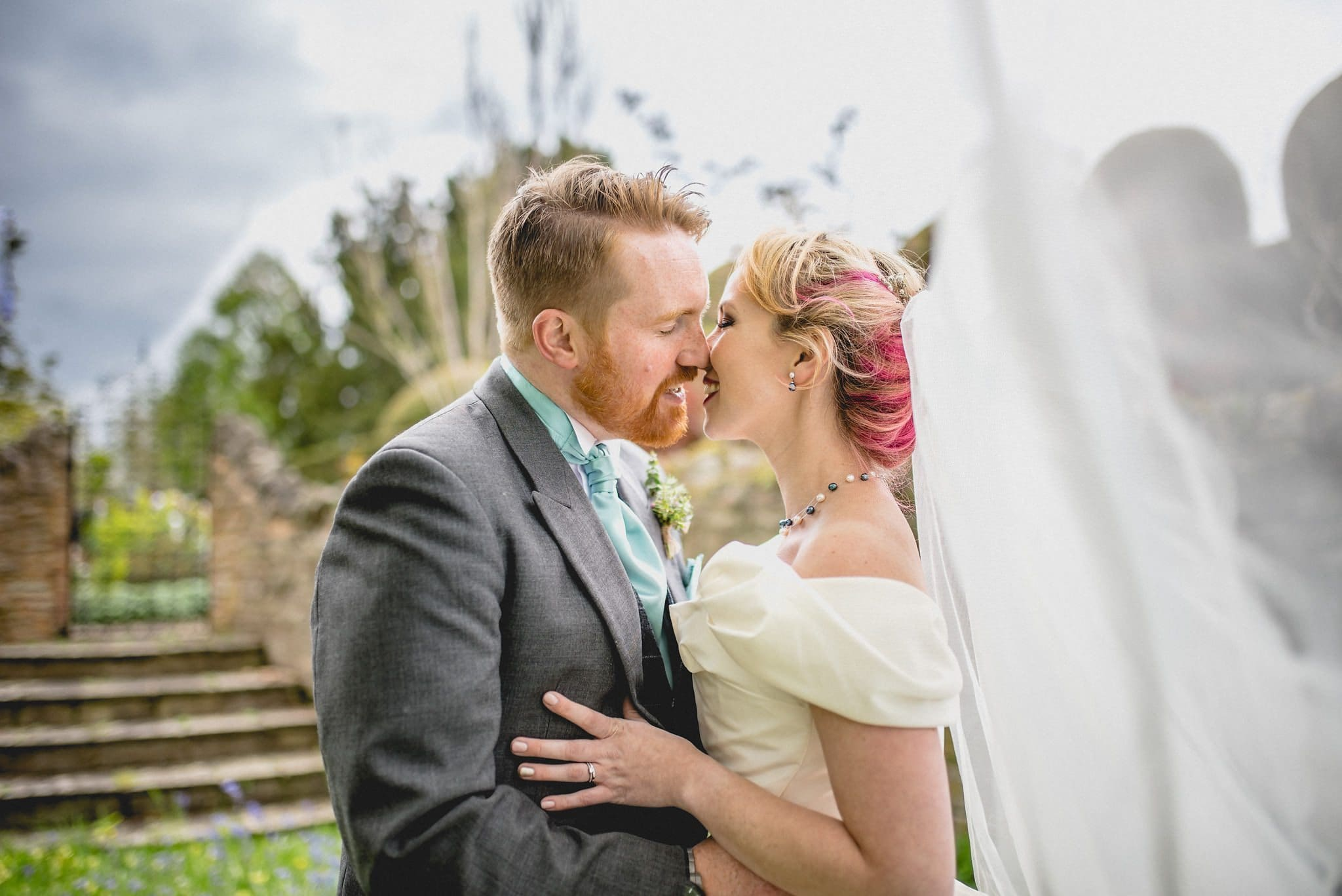 Gorgeous wedding portrait at a Quirky Birtsmorton Court Wedding