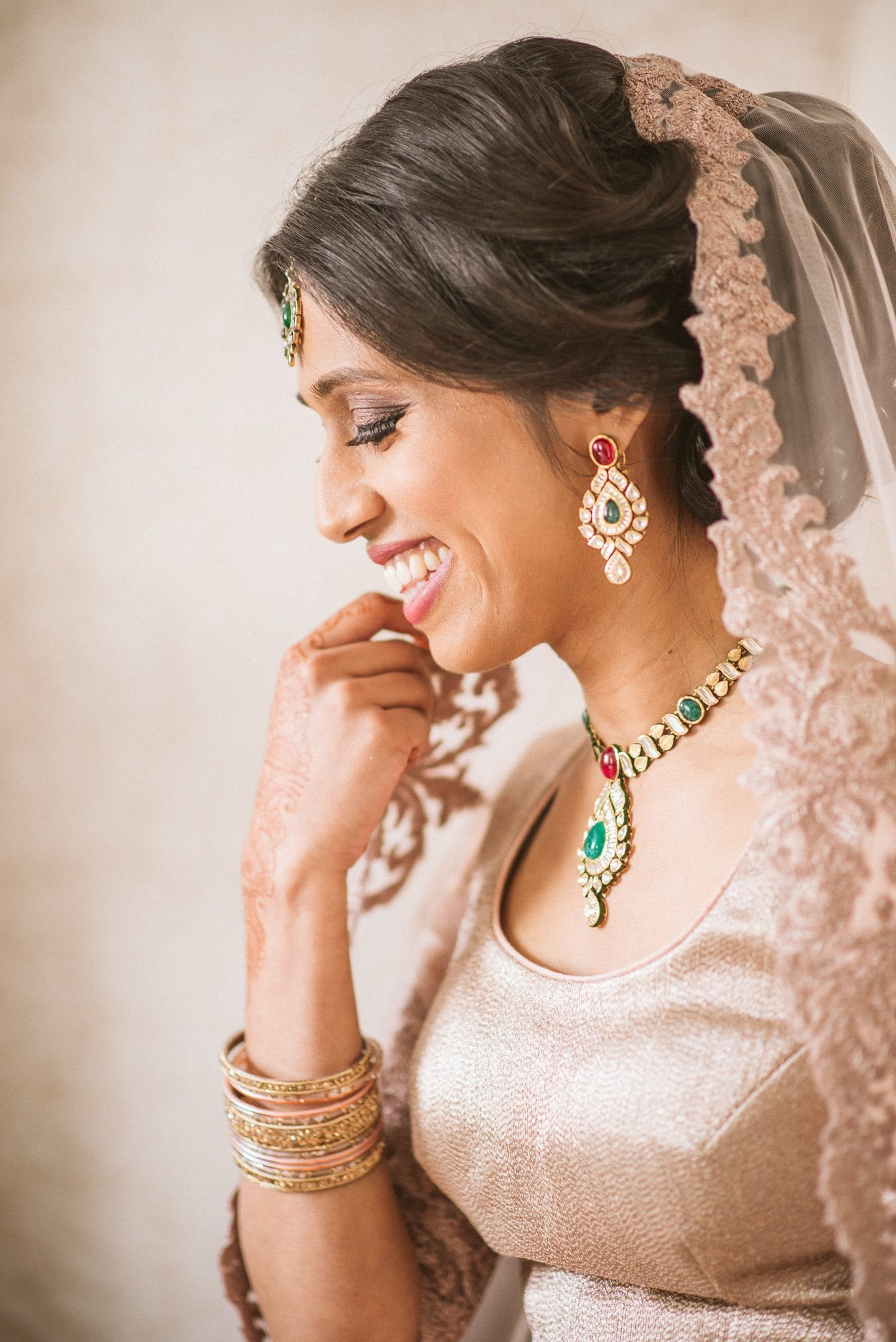 A portrait of Sorayya before her ceremony. This image was selected by Huffington Post as one of their most stunning brides.