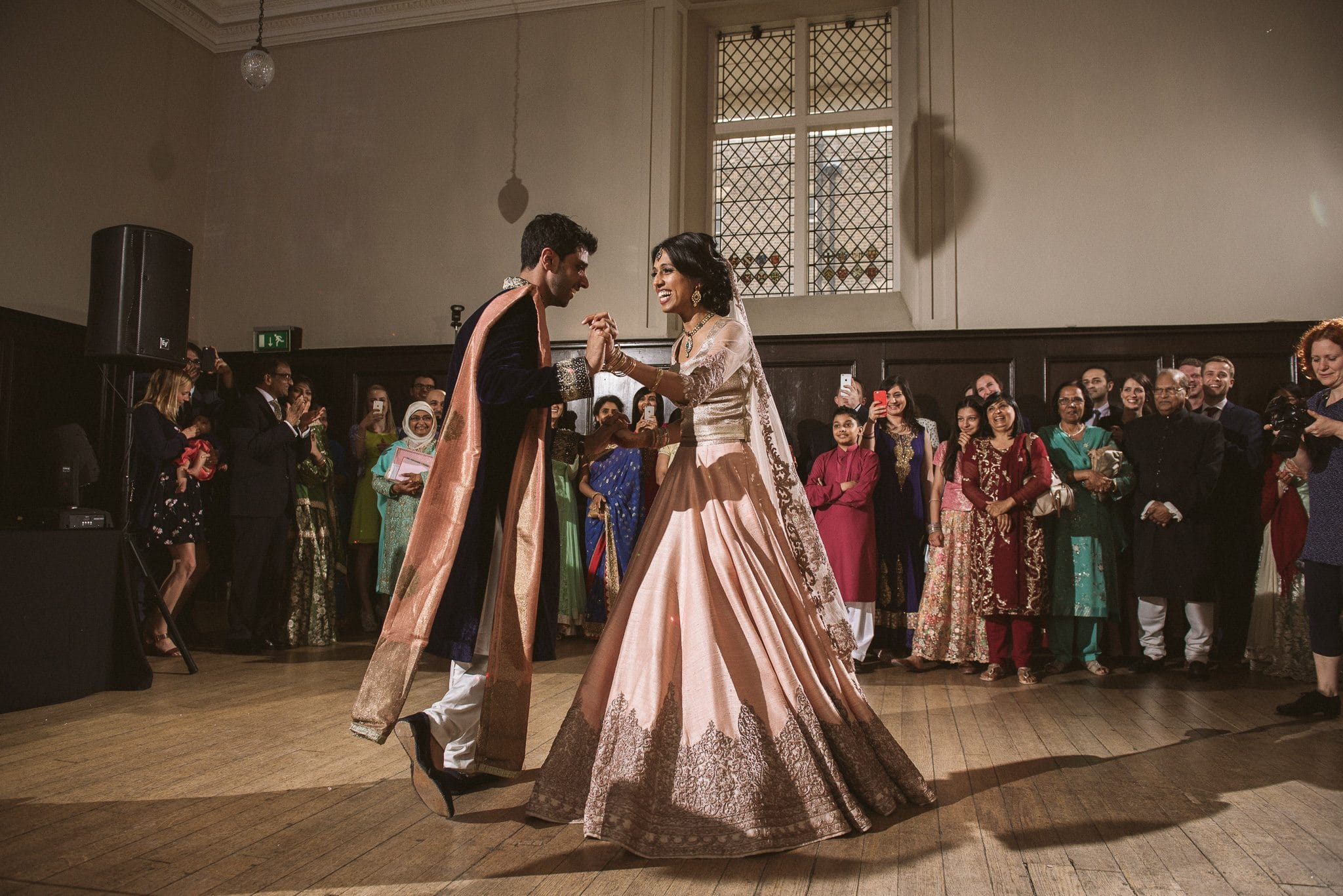 Sorayya and Usman take to the floor for their first dance at Fulham Palace