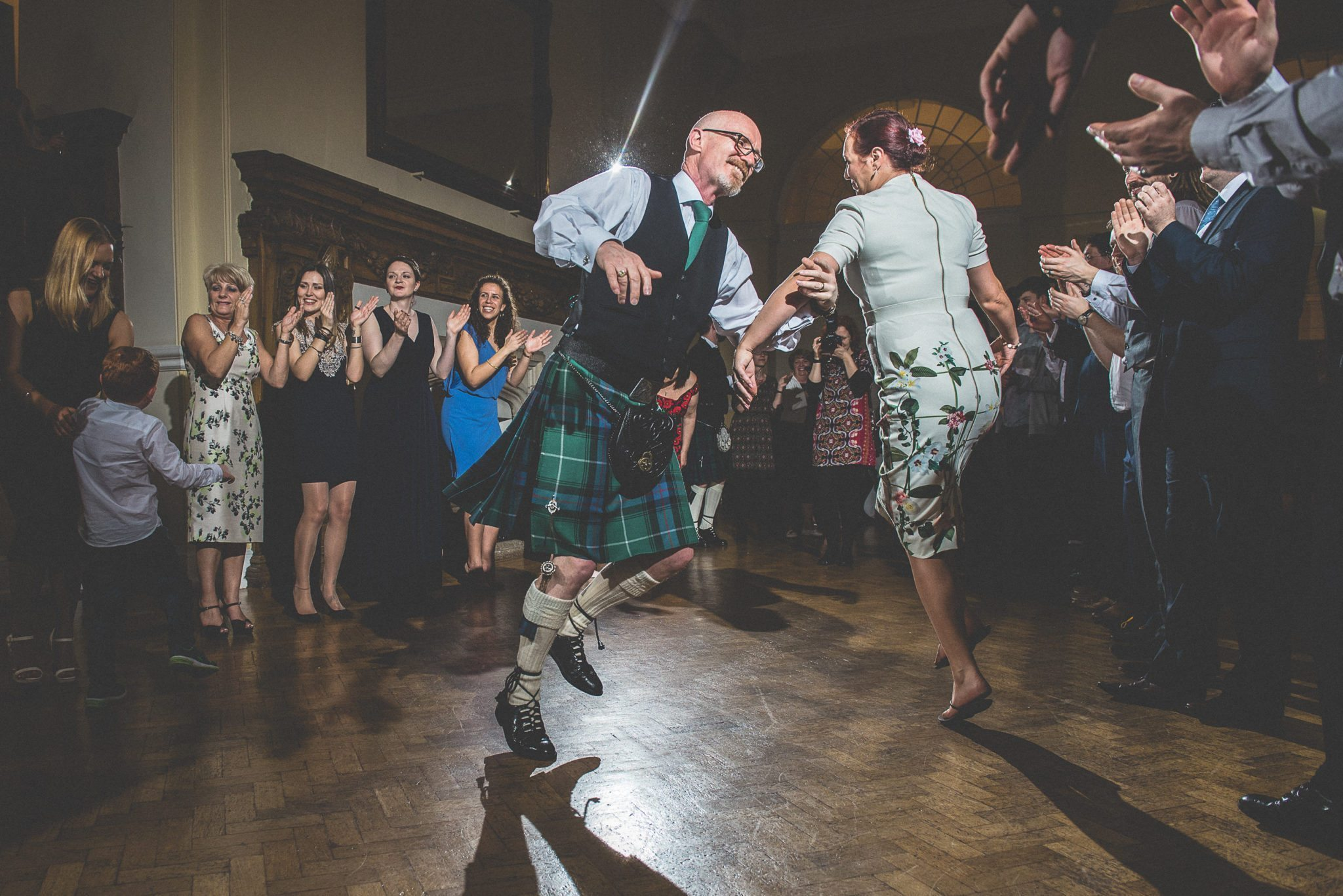 The dancefloor fills up and people spin round as the ceilidh kicks off