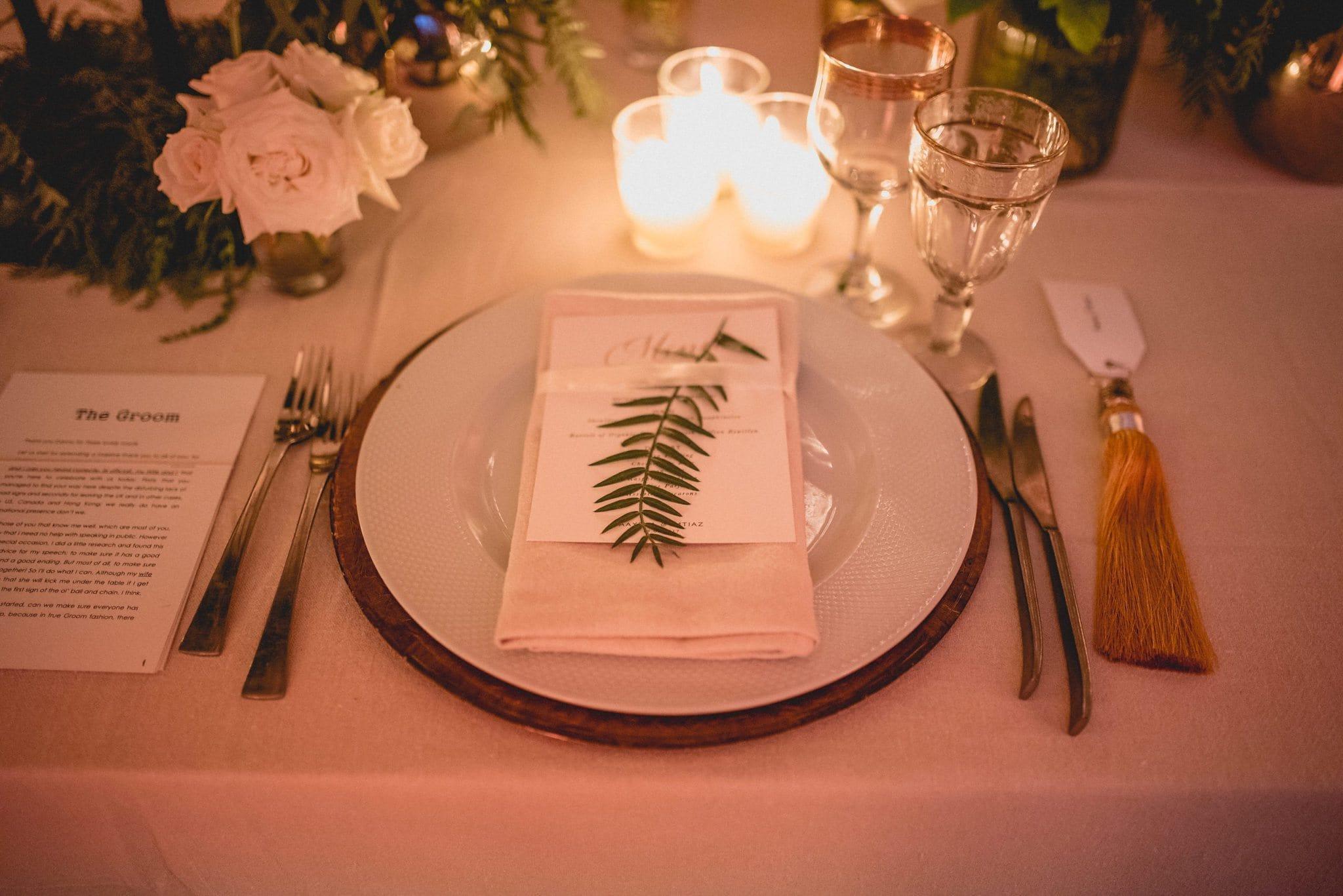 Gorgeous luxurious table setting at Ksar Char bagh Marrakech destination Wedding