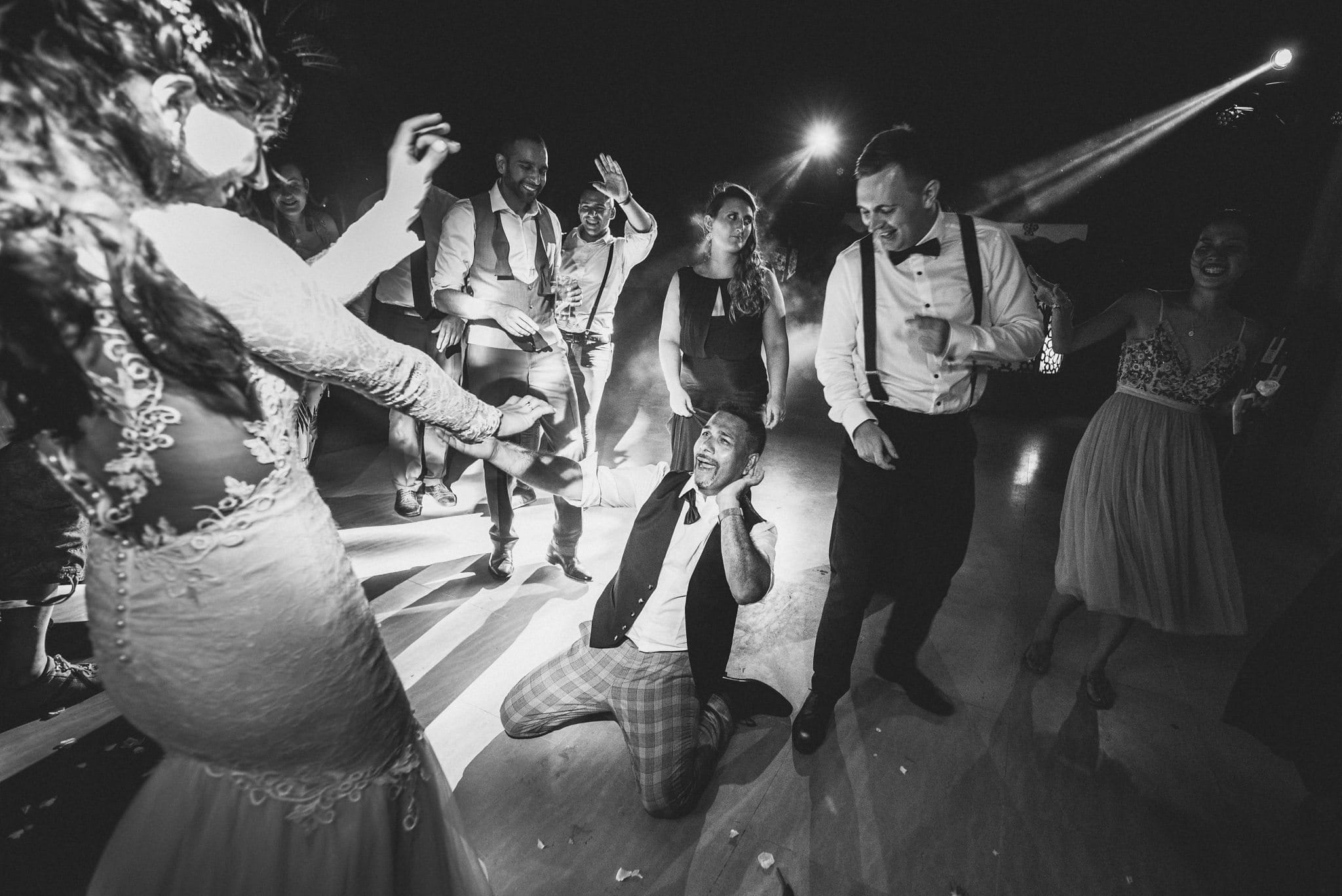 Bride and her father throwing some shapes on the dance floor