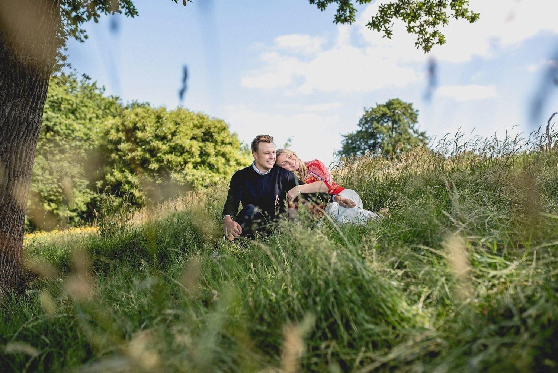 Summer Wild Flower Meadow Coworth Park Prewedding Shoot
