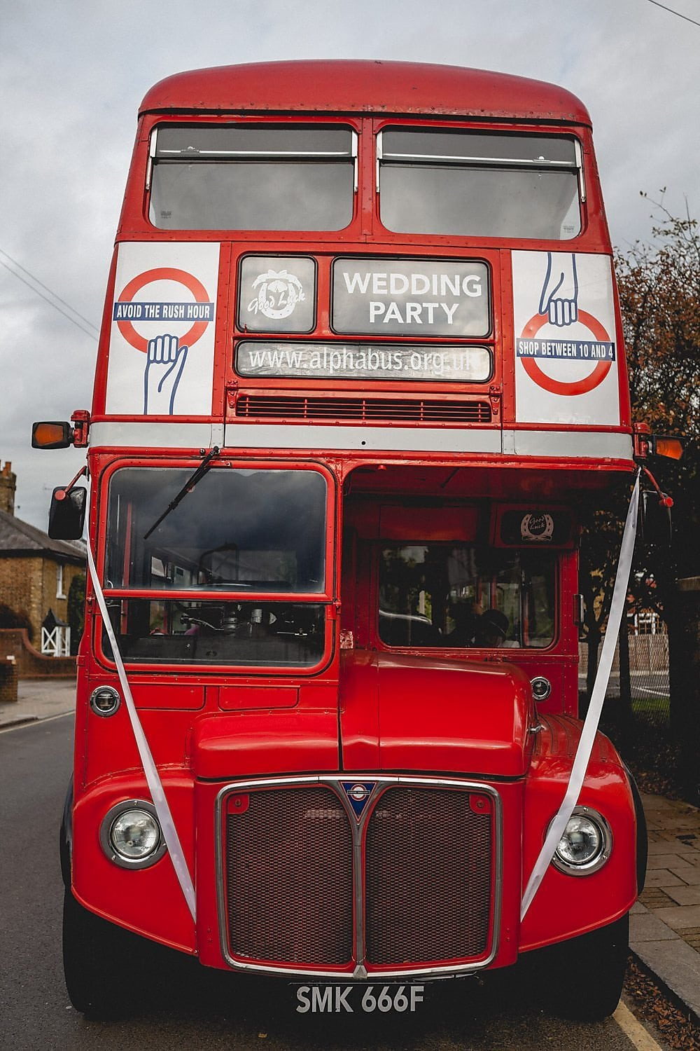 The wedding bus - a classic red routemaster
