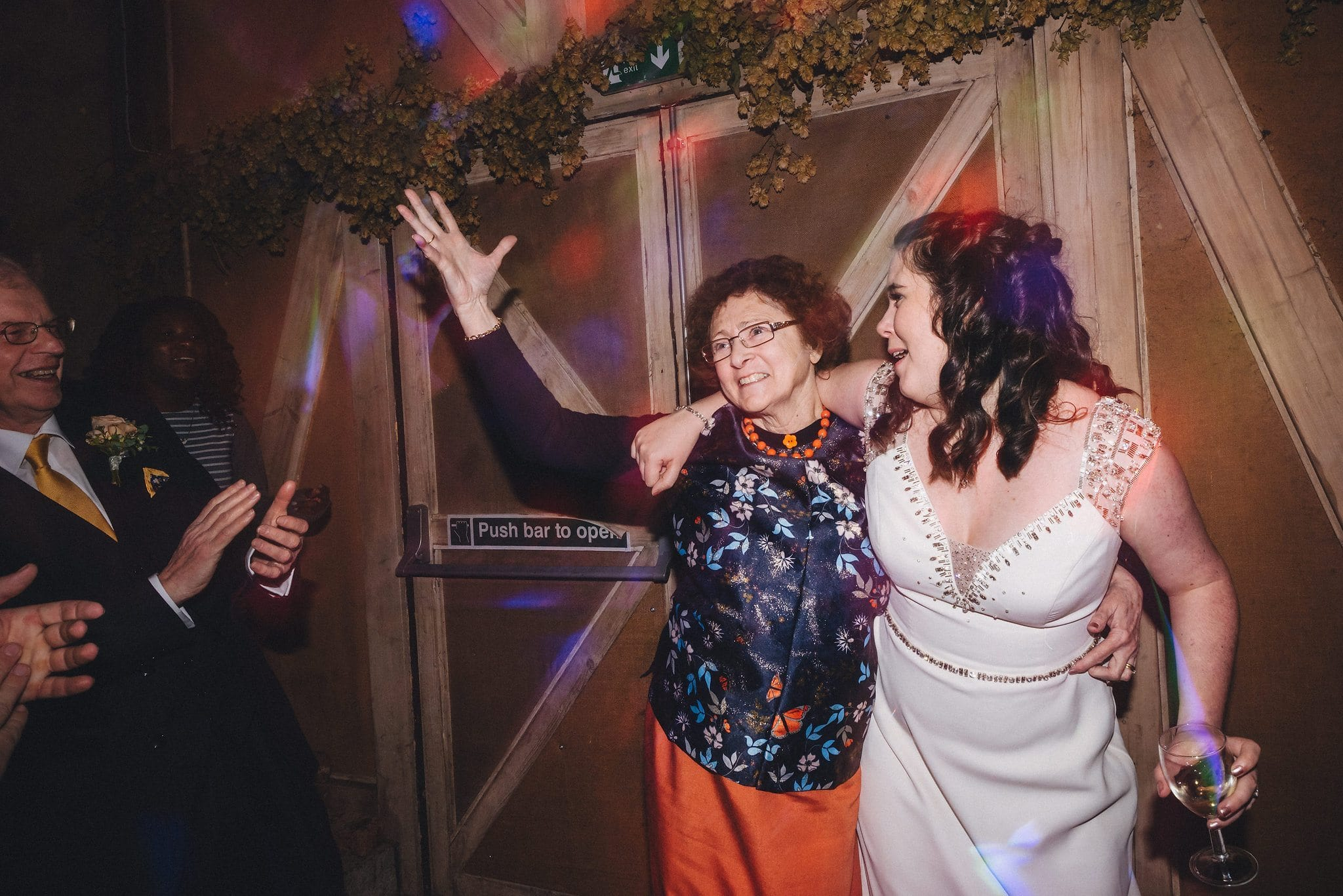 Bride dances with her mum at Lyde Court