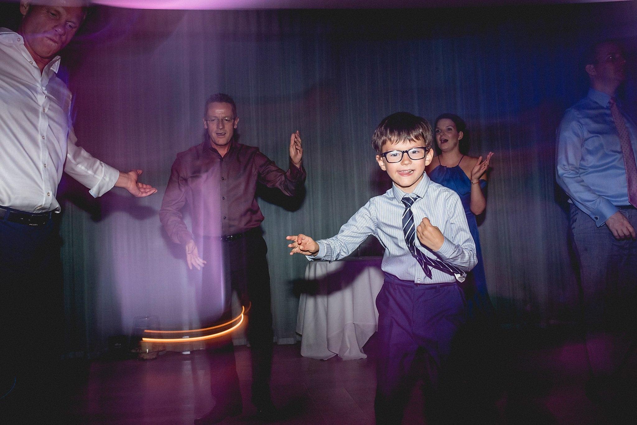 Young boy on the dancefloor