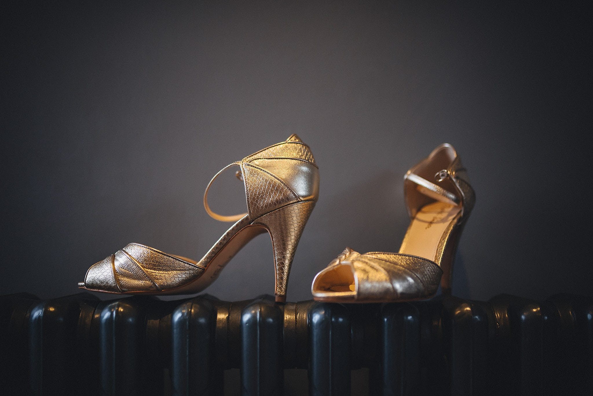 Glamorous Gold bridal shoes in a Gatsby Style