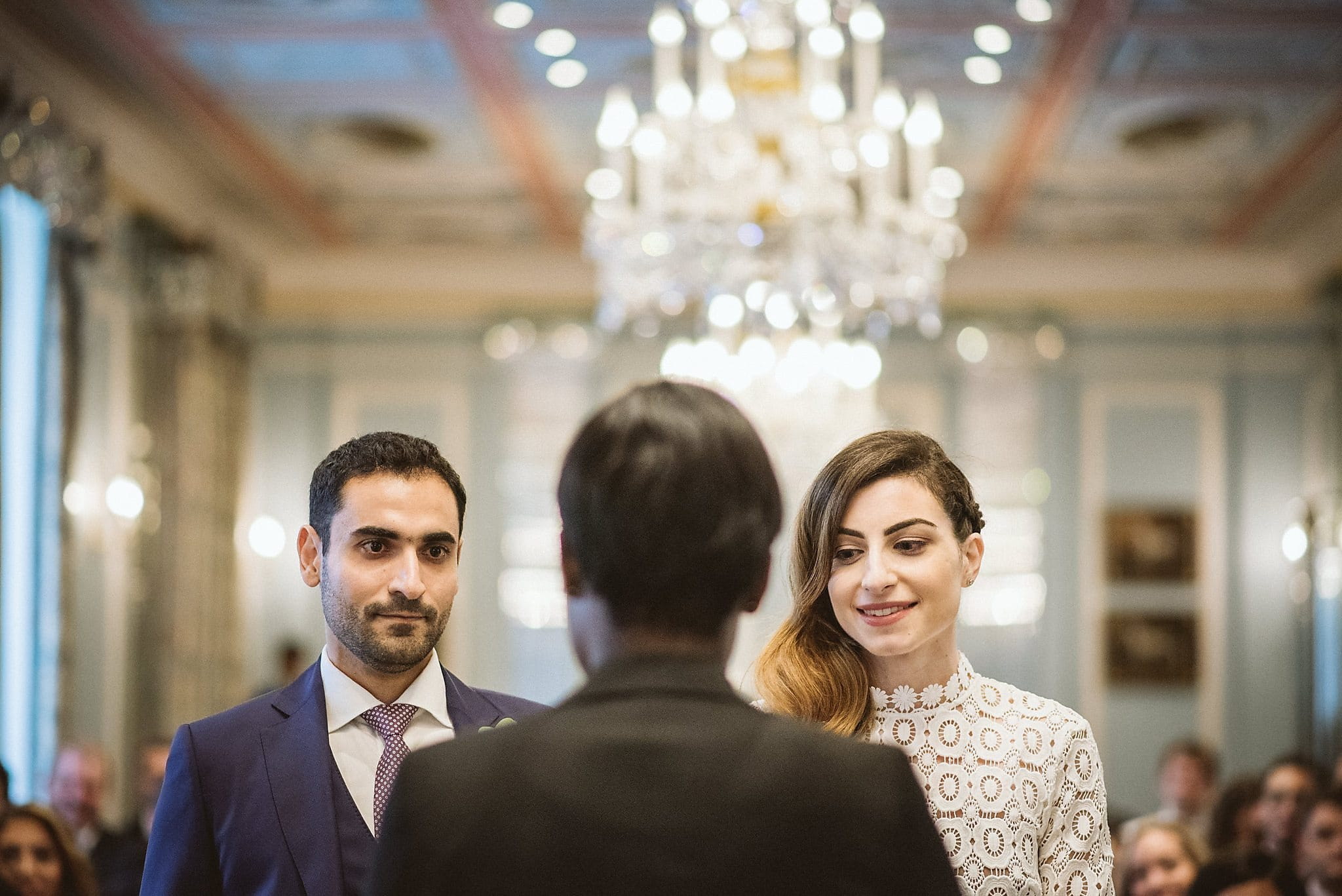 Bride and groom during their Lanesborough wedding ceremony