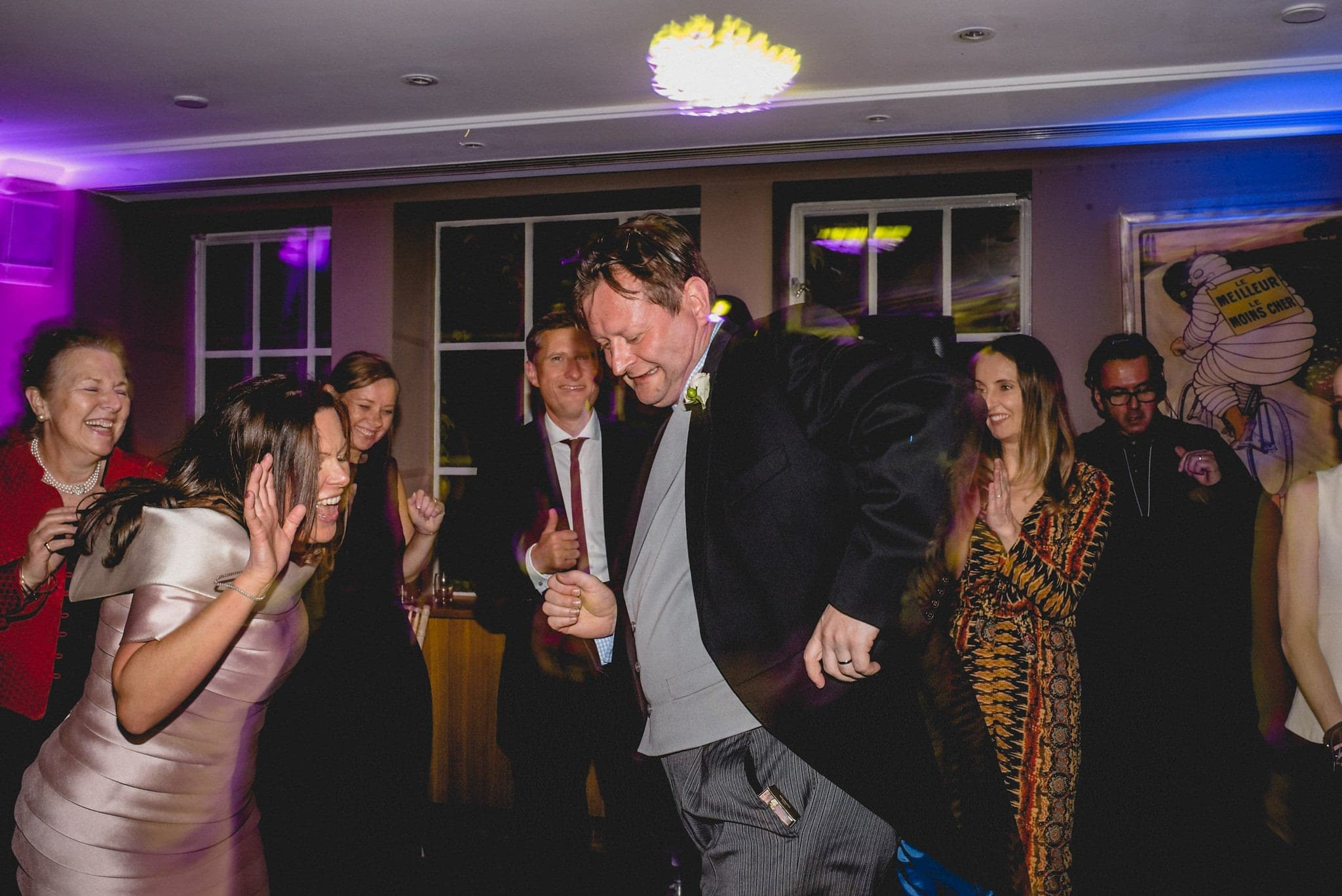 Bride and groom show off their dance moves