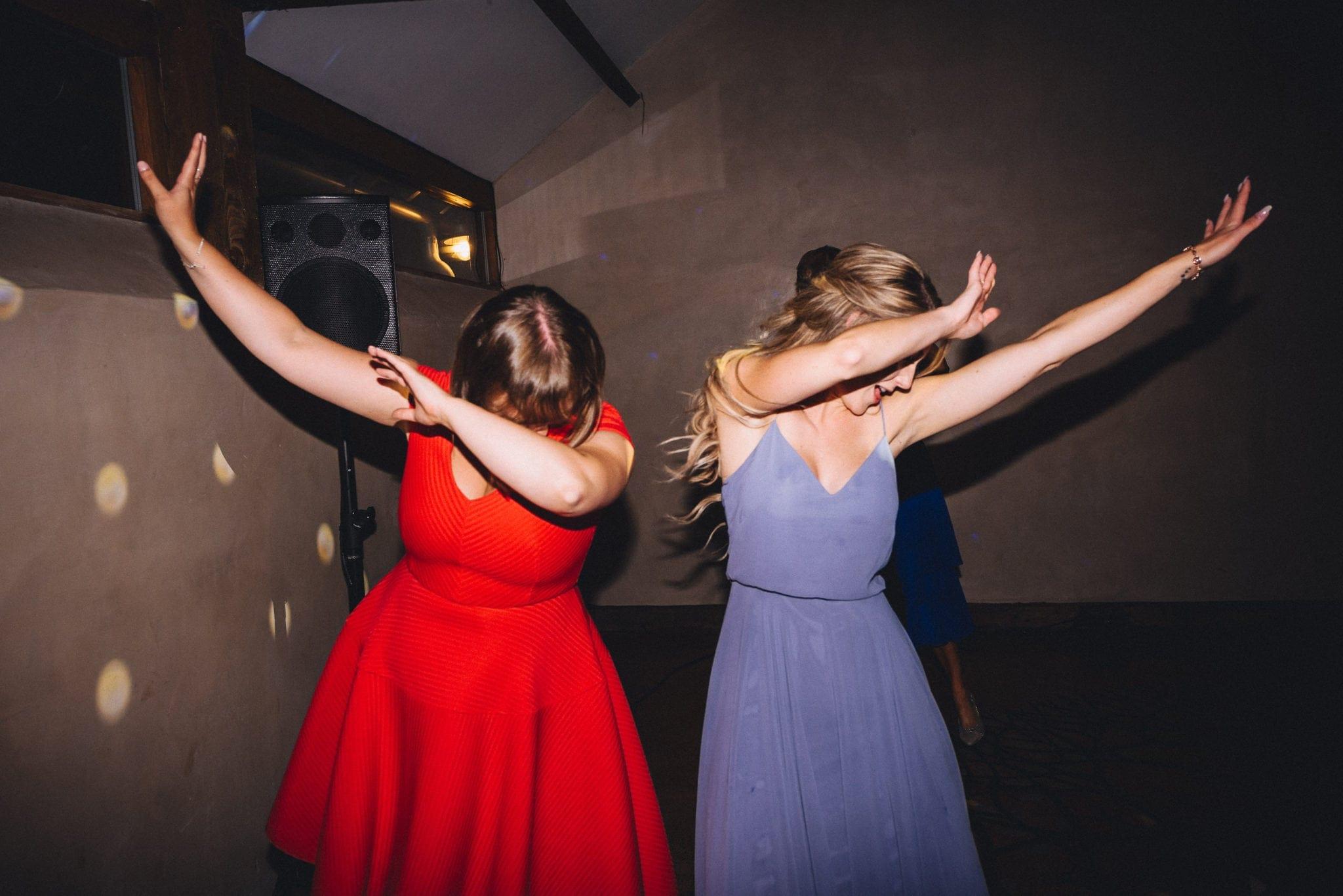 Guests throwing shape on dancefloor