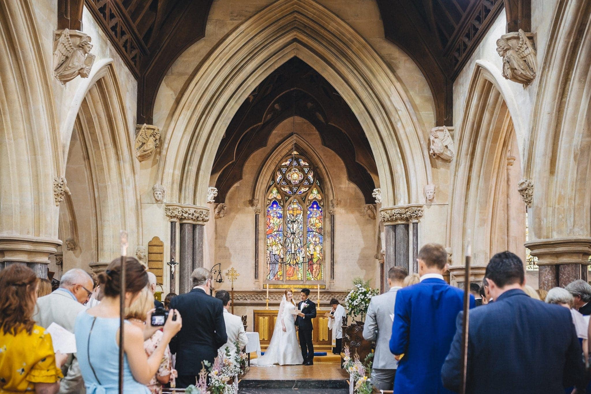 Wedding ceremony at St Audries Park