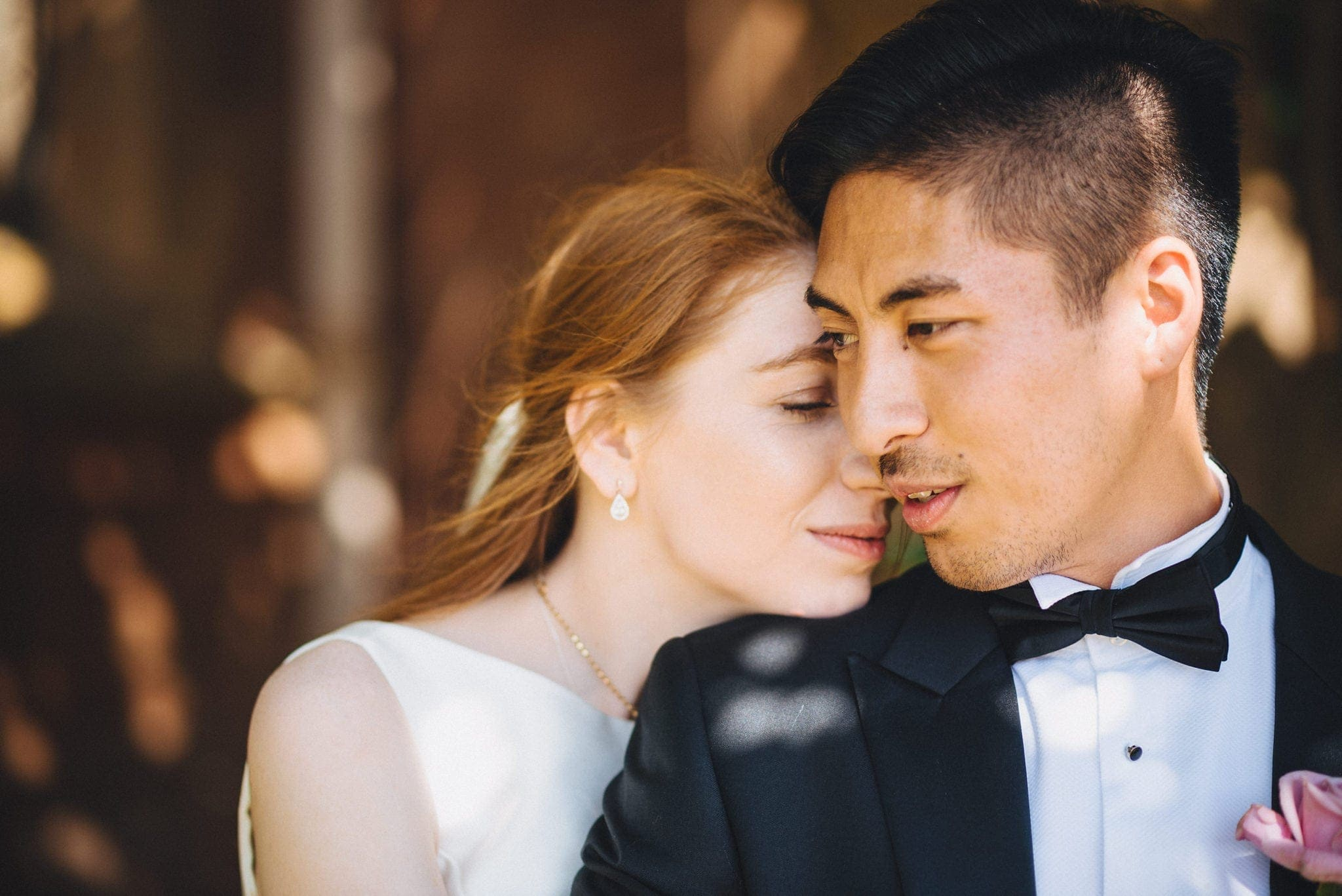 Glamorous bride and groom at their St Audries Park Wedding