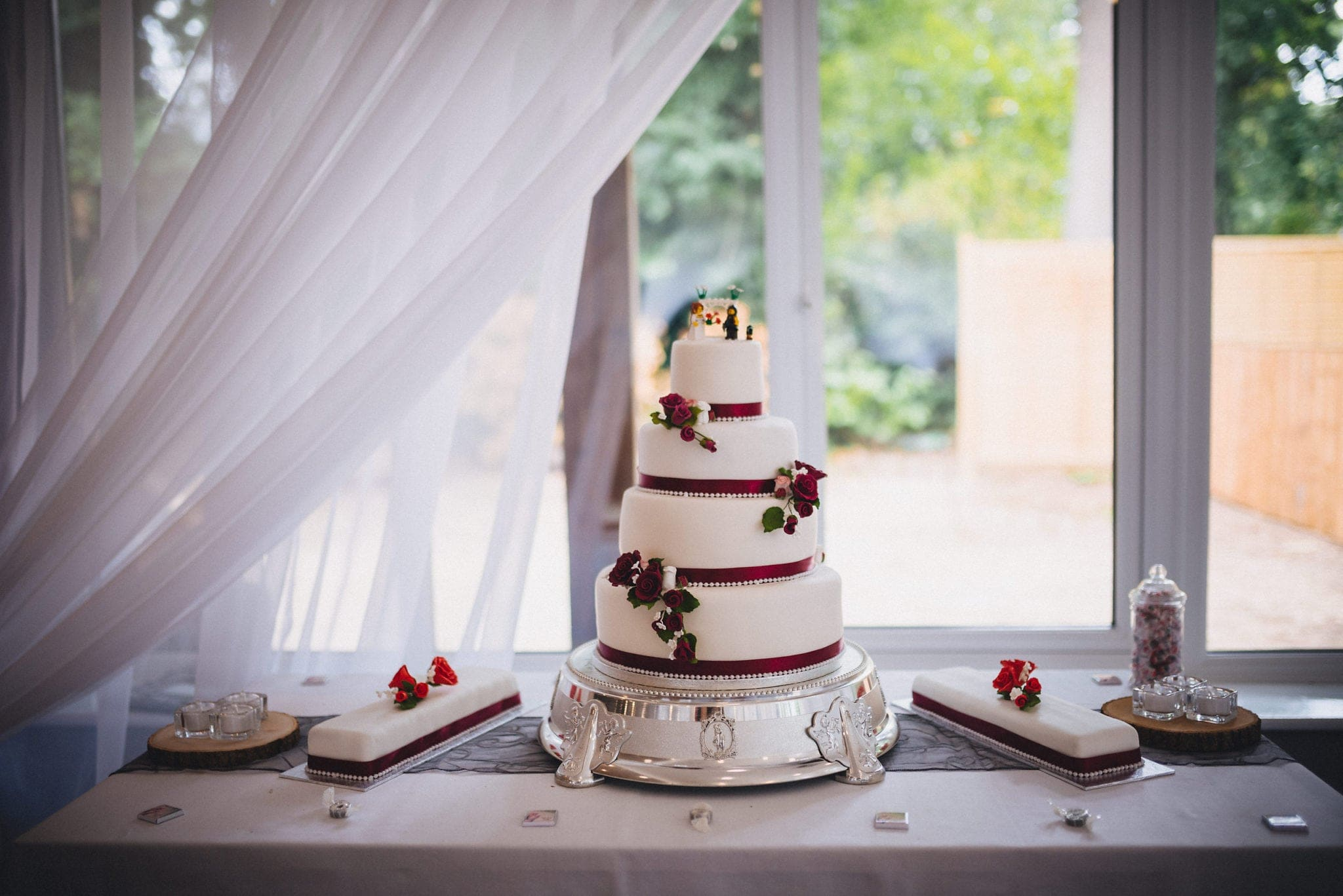 Wedding cake at the Hever Hotel