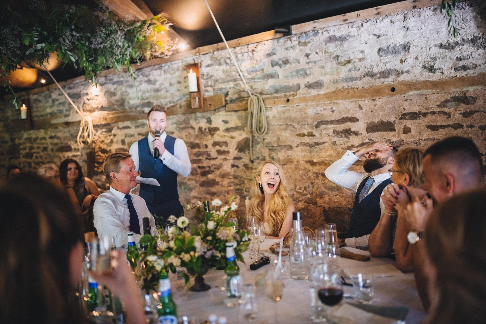 Best man's speech has bride and groom in stitches at their Summer Dewsall Court Wedding