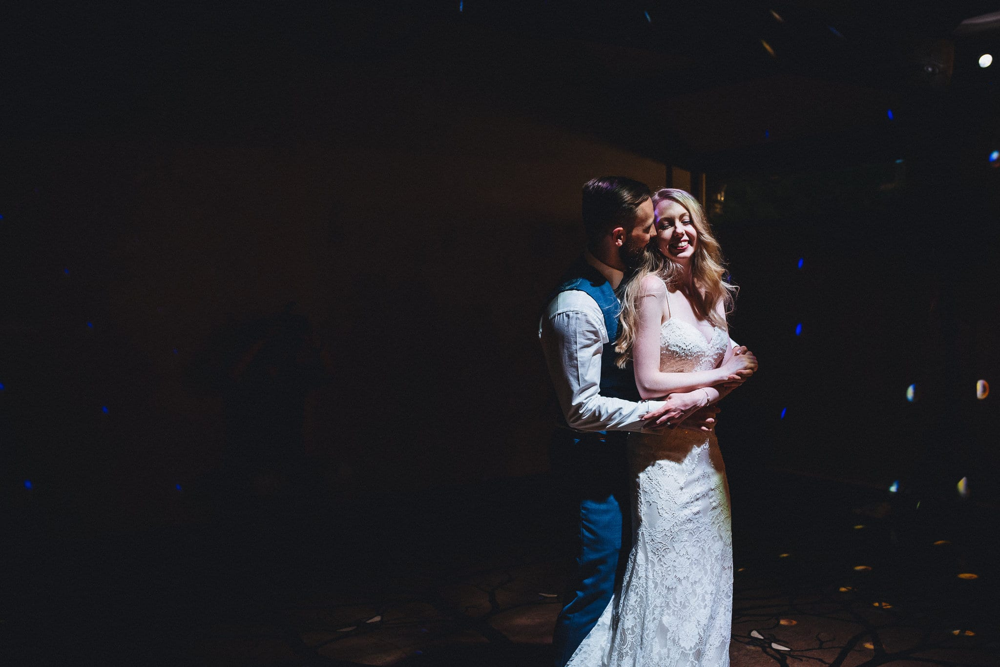 Bride and Groom's first dance at their Summer Dewsall Court Wedding