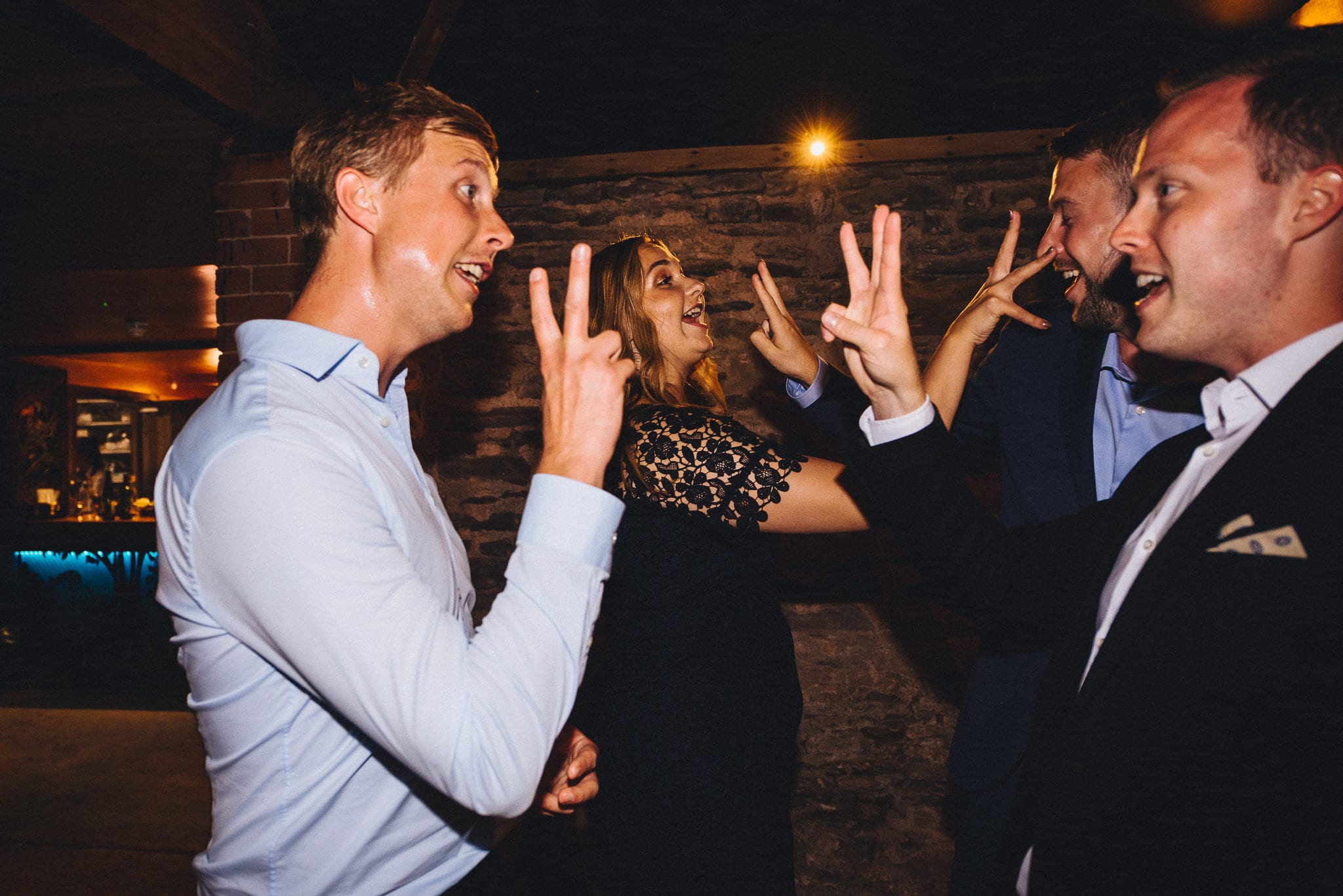 Summer Dewsall Court Wedding guests dancing to Pulp Fiction